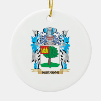Mcenroe Coat of Arms - Family Crest Double-Sided Ceramic Round Christmas Ornament