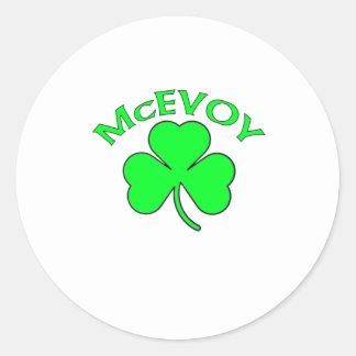 McEvoy Classic Round Sticker