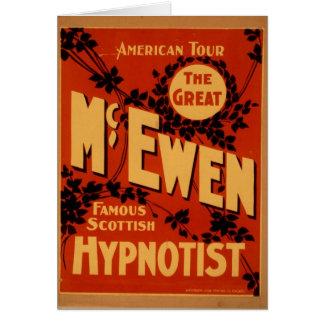 McEwen, 'Hypnotist' Vintage Theater Greeting Card