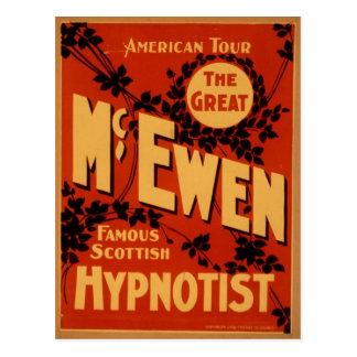 McEwen, 'Hypnotist' Vintage Theater Postcard