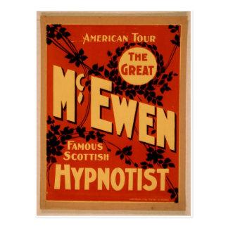 """McEwen, teatro del vintage del """"Hypnotist"""" Postales"""