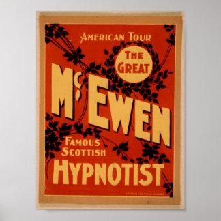 """McEwen, teatro del vintage del """"Hypnotist"""" Póster"""