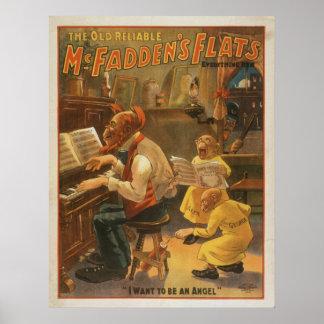 McFadden s Flats Comedy Act VAUDEVILLE Poster