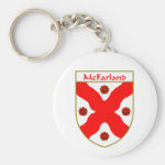 McFarland Coat of Arms/Family Crest Basic Round Button Keychain