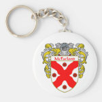 McFarland Coat of Arms (Mantled) Basic Round Button Keychain