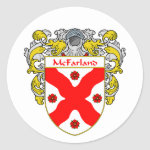 McFarland Coat of Arms (Mantled) Classic Round Sticker