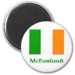 McFarland Irish Flag 2 Inch Round Magnet