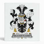 McGartland Family Crest 3 Ring Binder