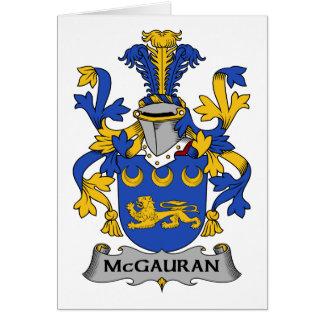McGauran Family Crest Greeting Card