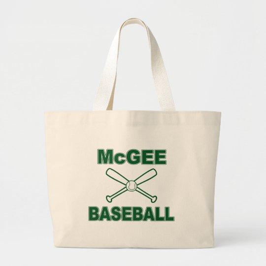 McGee Baseball Large Tote Bag