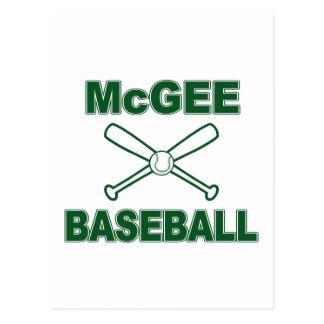 McGee Baseball Postcard