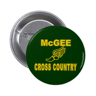 McGee Cross Country 2 Inch Round Button