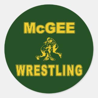 McGee que lucha Pegatina Redonda