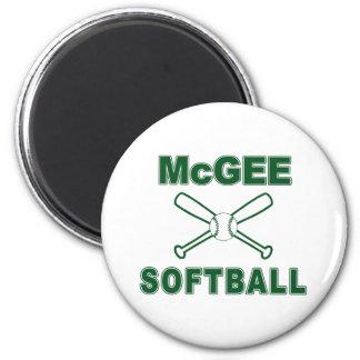 McGee Softball Magnet