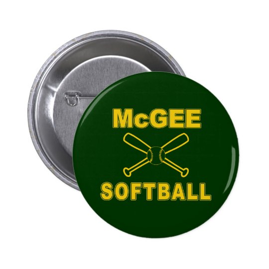 McGee Softball Pinback Button