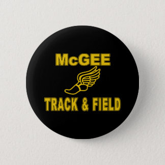 McGee Track & Field Pinback Button