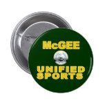 McGee unificó deportes Pin Redondo 5 Cm