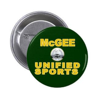 McGee unificó deportes Pin Redondo De 2 Pulgadas