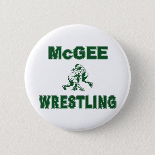 McGee Wrestling Pinback Button