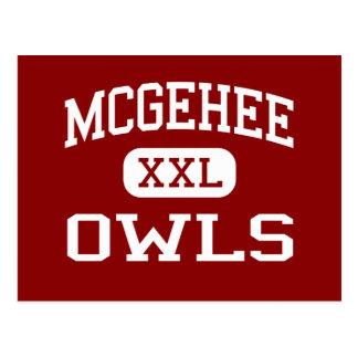 McGehee - búhos - High School secundaria - McGehee Tarjetas Postales