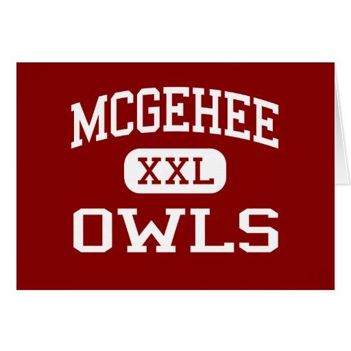 McGehee - Owls - High School - McGehee Arkansas Greeting Card