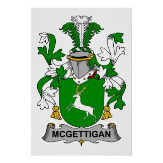 McGettigan Family Crest Print