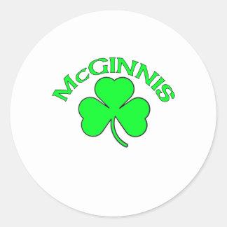 McGinnis Classic Round Sticker