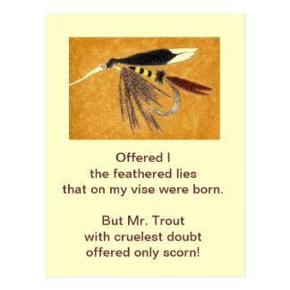 """McGinty"" Cruel Trout Postcard"