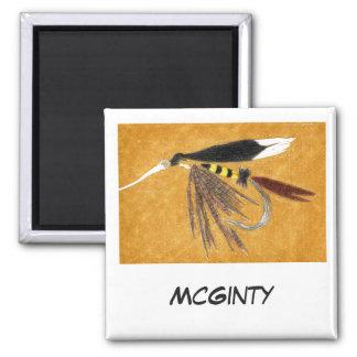 """McGinty"" Fly Fishing Art Magnet"