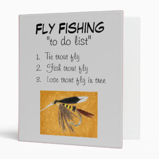 """""""McGinty-To Do List"""" Fly Fishing Journal Binder"""