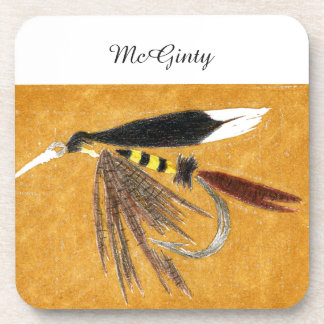 """McGinty"" Trout Wet Fly Coaster"