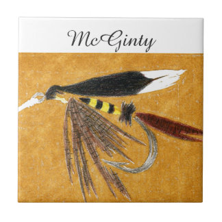 """McGinty"" wet fly tile. Tile"