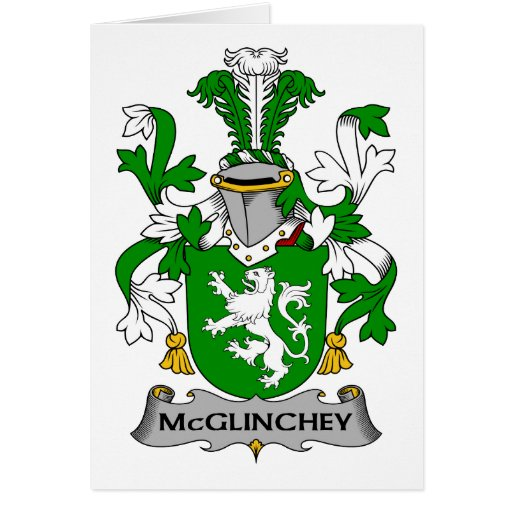 McGlinchey Family Crest Greeting Cards