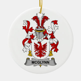 McGlynn Family Crest Double-Sided Ceramic Round Christmas Ornament