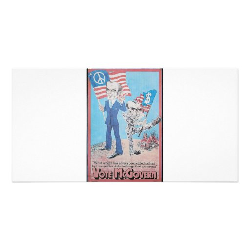 Mcgovern 1972 tarjetas fotográficas