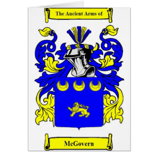 McGovern Coat of Arms Card
