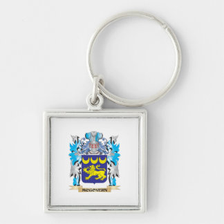Mcgovern Coat of Arms - Family Crest Silver-Colored Square Keychain