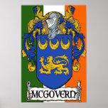 McGovern Coat of Arms Irish Flag Print