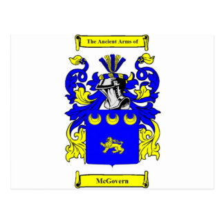 McGovern Coat of Arms Postcard