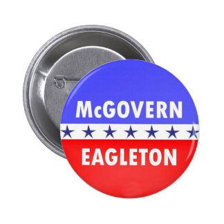 McGovern Eagleton Pin Redondo De 2 Pulgadas