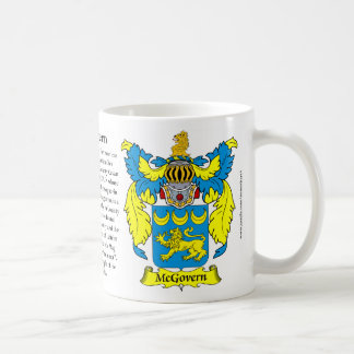 McGovern Family Coat of Arms Classic White Coffee Mug