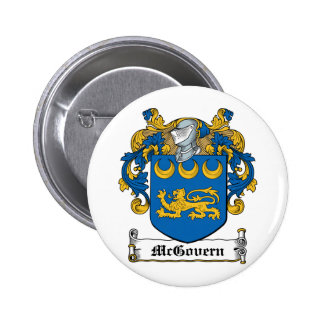 McGovern Family Crest 2 Inch Round Button
