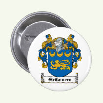 McGovern Family Crest Button