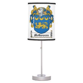 McGovern Family Crest Desk Lamps