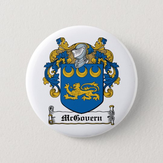 McGovern Family Crest Pinback Button