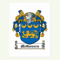McGovern Family Crest Postcard