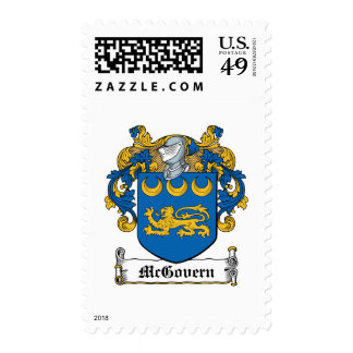 McGovern Family Crest Postage Stamps