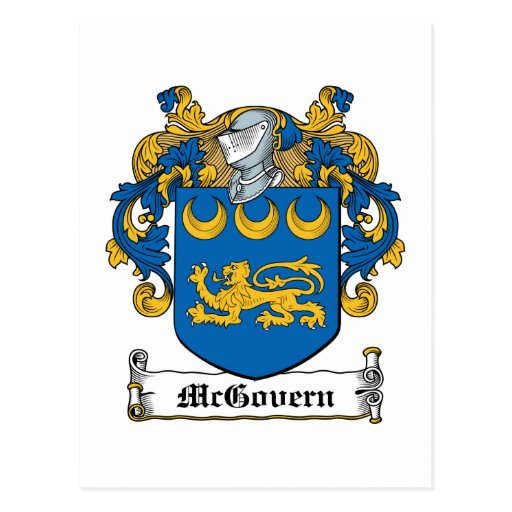 McGovern Family Crest Postcard