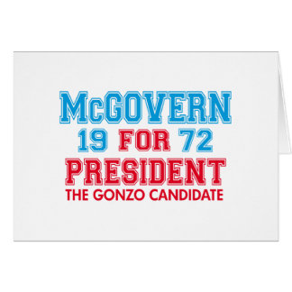 McGovern Gonzo Candidate Card