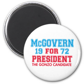 McGovern Gonzo Candidate 2 Inch Round Magnet